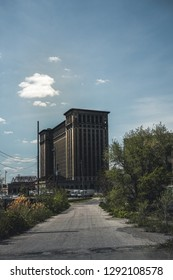Detroit, Michigan, United States - October 2018: A view of the old Michigan Central Station building in Detroit which served as a major railway depot from 1914 - 1988.