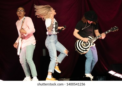 Detroit, Michigan/ USA - 04-26-2019: Julia Michaels opening for Pink at Little Caesar's Arena of Detroit