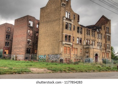 Detroit, Michigan, USA 7-16-18 The Midwest City of Detroit has Thousands of Abandoned Buildings left by People and Industry