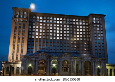 Detroit, Michigan USA, April 5, 2018, Michigan Central Station, MCS, Detroit Train Depot