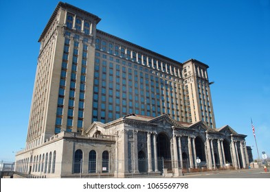 Detroit Michigan USA, April 8, 2018, Michigan Central Station, MCS, Train Depot Detroit
