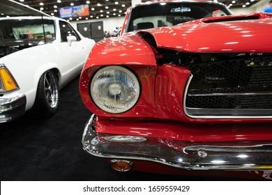 Detroit, Michigan / USA February 28th-2020: 68th Annual Autorama Hot Rod Show and Expo