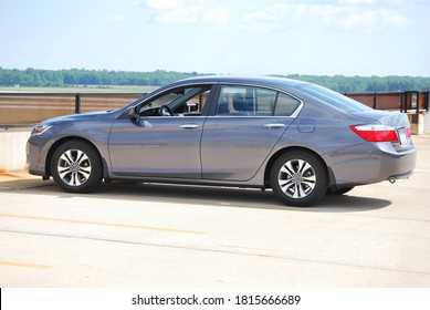 Detroit, Michigan, USA - July 13, 2013: 2013 Honda Accord LX parked at Detroit Metropolitan Airport