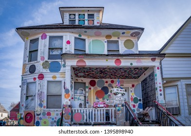 Detroit, Michigan, USA - November 23, 2018: The Heidelberg Project is an outdoor art environment in the heart of an urban area and a Detroit based community organization.