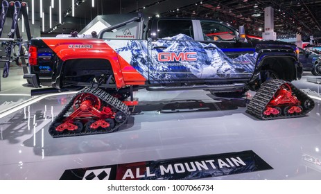 DETROIT, MI/USA - JANUARY 15, 2018: A 2018 GMC Sierra 2500 HD All Terrain X Concept truck at the North American International Auto Show (NAIAS), one of the most influential car shows in the world.