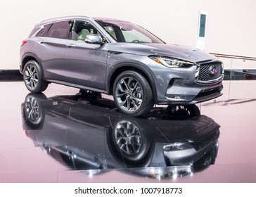 DETROIT, MI/USA - JANUARY 16, 2018: A 2019 Infiniti QX50