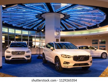 "DETROIT, MI/USA - JANUARY 16, 2018: 2018 Volvo XC60 car at the North American International Auto Show (NAIAS). Named ""North American Utility of the Year (NACTOY)."