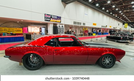 DETROIT, MI/USA - March 2, 2018: A 1968 Chevrolet Camaro interpretation, on display at the Detroit Autorama, a showcase of custom and restored cars.