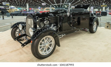 DETROIT, MI/USA - March 2, 2018: A 1927 Ford Model T car interpretation, on display at the Detroit Autorama, a showcase of custom and restored cars.