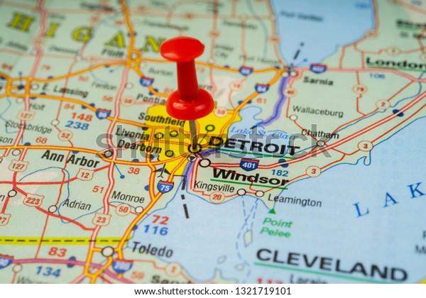 Detroit On Usa Map Stock Photo (Edit Now) 1321719101 on map usa dallas, map usa indianapolis, map usa new orleans, map usa san francisco, map usa boston, map usa chicago, map usa san antonio, map usa cleveland, map usa san diego, map usa new york, map usa baltimore, map usa philadelphia, map usa michigan, map usa atlanta,