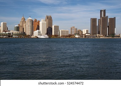 Detroit Panoramic From Windsor November 2016