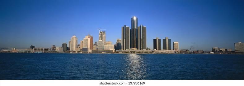 Detroit skyline, Michigan