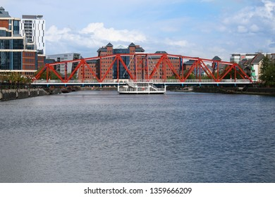 The Detroit Swing Bridge in Salford Quays, Manchester