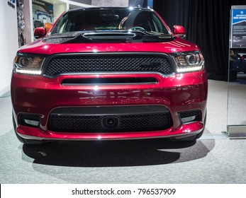 DETROIT, US - JANUARY 15, 2018: Dodge Durango SRT modified by MOPAR on display during the North American International Auto Show at the Cobo Center in downtown Detroit.