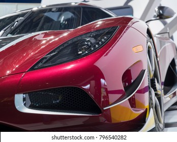 DETROIT, US - JANUARY 15, 2018: Koenigsegg Agera RS on display during the North American International Auto Show at the Cobo Center in downtown Detroit.