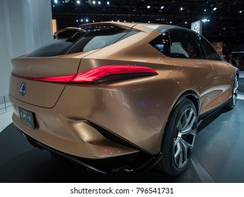 DETROIT, US - JANUARY 15, 2018: Lexus LF-1 Limitless on display during the North American International Auto Show at the Cobo Center in downtown Detroit.