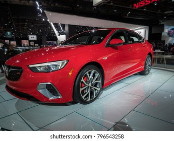 DETROIT, US - JANUARY 15, 2018: Buick Regal GS on display during the North American International Auto Show at the Cobo Center in downtown Detroit.