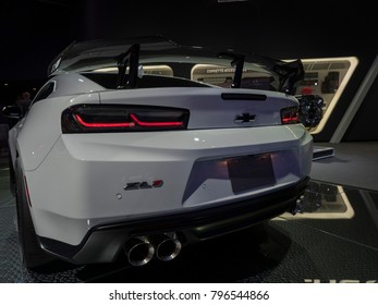 DETROIT, US - JANUARY 15, 2018: Chevrolet Camaro ZL1 on display during the North American International Auto Show at the Cobo Center in downtown Detroit.