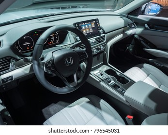 DETROIT, US - JANUARY 15, 2018: Honda Accord on display during the North American International Auto Show at the Cobo Center in downtown Detroit.