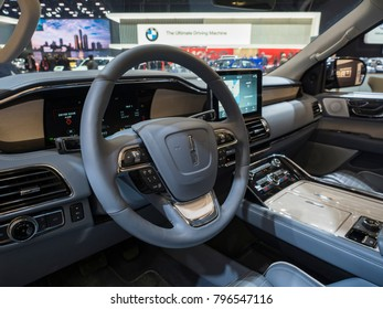 DETROIT, US - JANUARY 15, 2018: Lincoln Navigator on display during the North American International Auto Show at the Cobo Center in downtown Detroit.