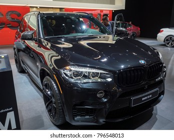 DETROIT, US - JANUARY 15, 2018: BMW X5 M on display during the North American International Auto Show at the Cobo Center in downtown Detroit.