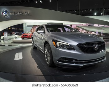 DETROIT, US - JANUARY 9,2017: Buick Lacrosse on display during the North American International Auto Show at the Cobo Center in downtown Detroit.