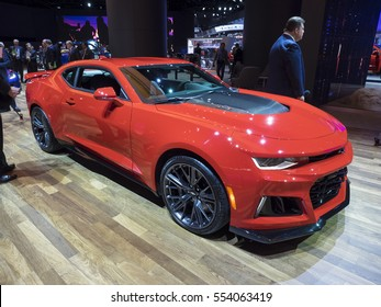 DETROIT, US - JANUARY 9,2017: Chevrolet Camaro ZL1 on display during the North American International Auto Show at the Cobo Center in downtown Detroit.
