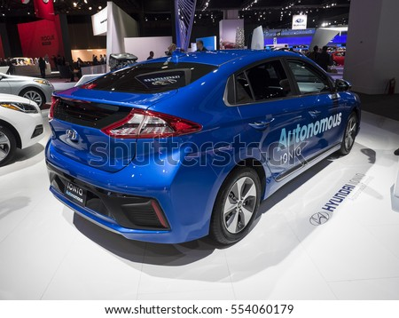 Detroit Us January 92017 Hyundai Ioniq Stock Photo Edit Now