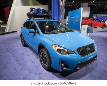 DETROIT, US - JANUARY 9,2017: Subaru Crosstrek on display during the North American International Auto Show at the Cobo Center in downtown Detroit.