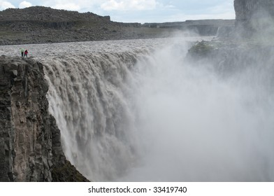 Dettifoss, Gigantic waterfall in northern Iceland