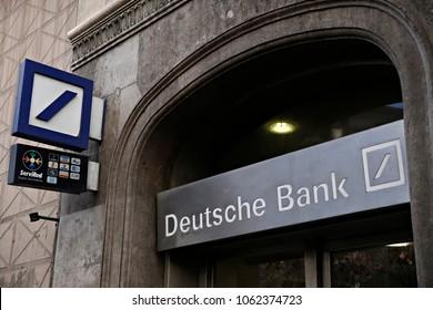 Deutsche Bank branch in Barcelona, Spain on Dec. 22, 2017