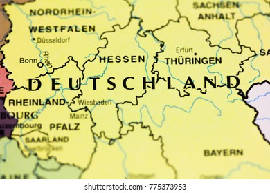 Deutschland Map Stock Photos, Images & Photography ...
