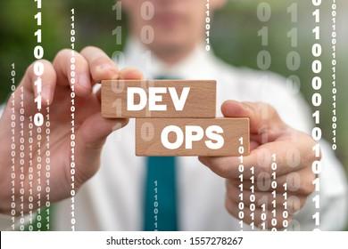 Dev Ops Development Operations Software Deploy Communication Development Digital Concept. - Shutterstock ID 1557278267