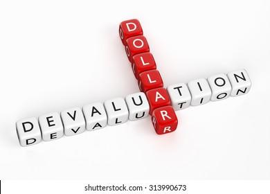 Devaluation of Dollar. Crossword. Render