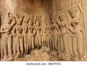 Devata carvings