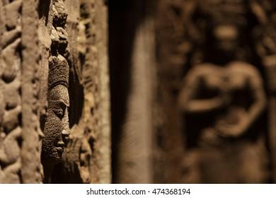 Devata statue in Ta Prohm