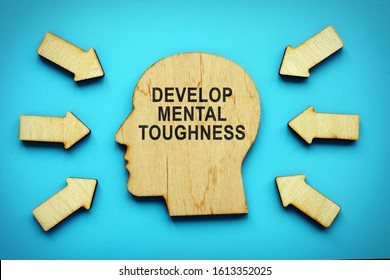 Develop Mental Toughness phrase on the head shape.