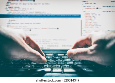 developer development web code tech coding program programming html screen script internet profession dictionary communication occupation identity concept - stock image