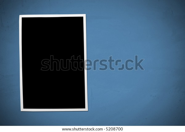 Developing picture. Isolated on blue background.