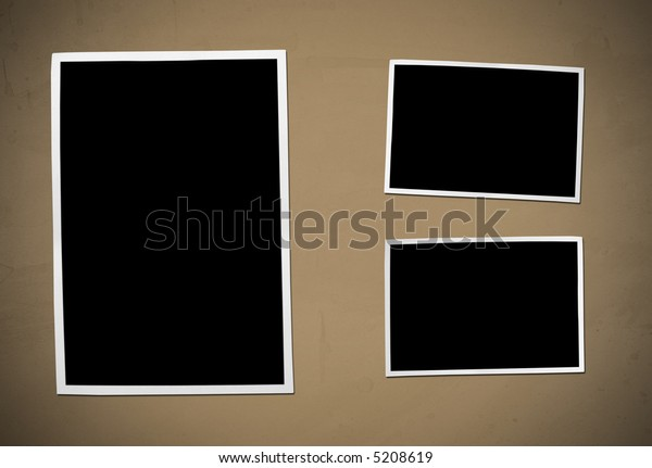 Developing picture. Isolated on brown background.