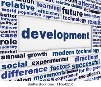 Development conceptual message background. Improvement poster design