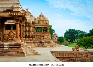 Devi Jagdambi Temple, dedicated to Parvati, Western Temples of Khajuraho. Unesco World Heritage Site. Popular amongst tourists all over the world.
