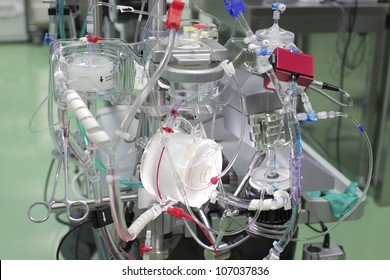 device complex medicine. latest type of artificial blood circulation apparatus.
