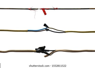 device concept with torn wire, Repair Broken or Damaged Wires, fixes for fraying cables, Damaged electric cord