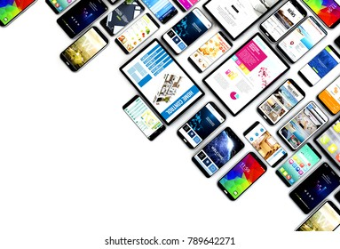devices user ux 3d rendering