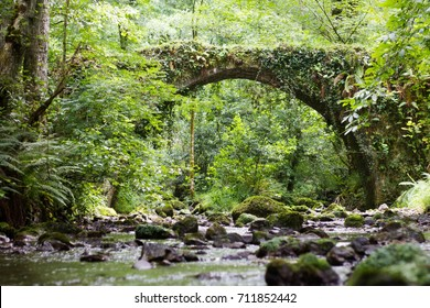 Devil bridge in Spain on the Camino de Santiago way