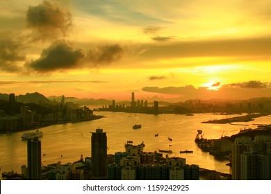 Devil Peak view a Victoria Harbour hk