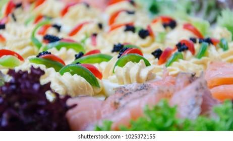 Deviled eggs wth salmon