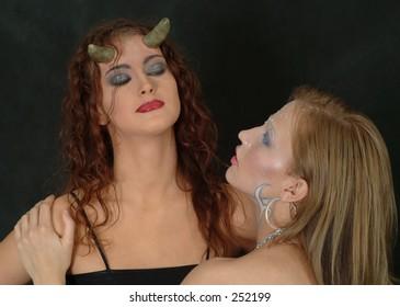 Devil-girl and Snow-white