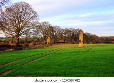 The Devil's Arrows Standing Stones, Boroughbridge, Yorkshire UK